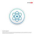 atom sign icon - white circle button vector image