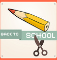 Back to School Retro Flat Design vector image vector image