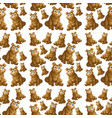 bear on seamless pattern vector image vector image