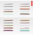 big set of glass wood plastic metal shelves in vector image vector image