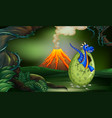blue dragon in the forest vector image vector image