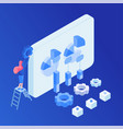 business analysis software optimization isometric vector image