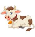Cartoon happy cow vector image vector image
