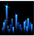 Chart with Shining Stars vector image vector image