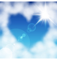 Cloud heart sun vector | Price: 1 Credit (USD $1)