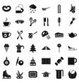 coffee icons set simple style vector image vector image