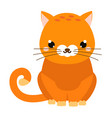 cute cartoon cat isolated on white vector image vector image