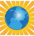 earth planet pop art comic vector image vector image
