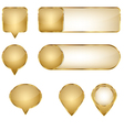 Elegant Golden Web Buttons Pins and Sliders vector image