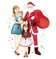 family Christmas vector image