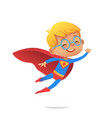 flying boy wearing colorful costumes of vector image vector image