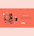 freelancer - line design style isometric web vector image