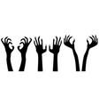 ghost hands vector image vector image
