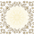 gold easter round frame vector image vector image