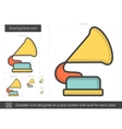 Gramophone line icon vector image vector image