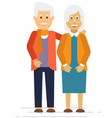 happy old couple smiling in a park vector image vector image