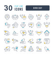 line icons bird day vector image vector image