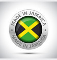 made in jamaica flag metal icon vector image vector image