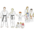 martial arts character vector image