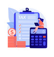 monthly expense planning concept metaphor vector image vector image