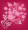 paper cut sakura flowers with mehndi