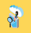people cloud computing storage vector image vector image