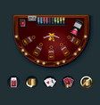 poker table layout vector image vector image