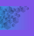 Polygon background hexagons half purple