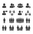 public people icon set vector image vector image