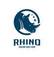 rhinoceros head logo design in a circle vector image vector image
