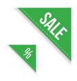 sale corner ribbon set vector image vector image