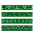 seamless borders with shamrock vector image