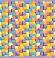 seamless pattern colored cubes vector image