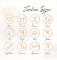set hand-drawn zodiac signs icons on vector image vector image
