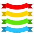 set of colored flat ribbons vector image