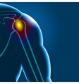 Shoulder pain vector image vector image