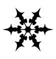 simple snowflake template vector image vector image