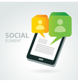 social icon group element vector image vector image