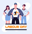 super workers labour day poster vector image vector image
