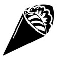 sushi restaurant icon simple black style vector image vector image