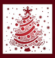template for laser cutting christmas tree vector image vector image