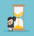 time management is effective vector image