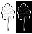 trees black and white vector image
