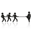 tug-of-war businessmen stick figures vector image vector image