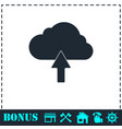 Upload cloud icon flat