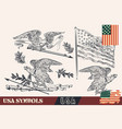 usa symbols in vintage style eagles wreath vector image vector image