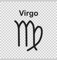 virgo zodiac sign flat astrology on white vector image vector image