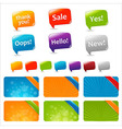 Web Text Boxes And Speech Bubbles vector image vector image