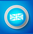 white flag of great britain icon uk flag sign vector image vector image