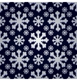 Seamless Snowflake Pattern vector image